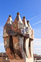 Gaudi rooftop, casa battlo