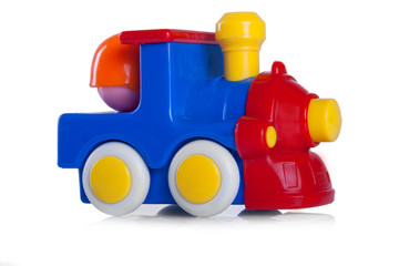 colorful toy locomotive