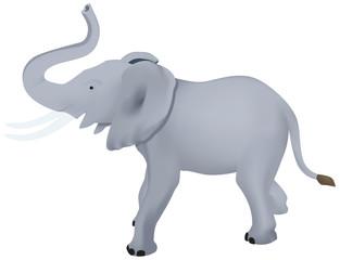 Elephant in vector