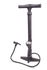 Manual air pump with barometer