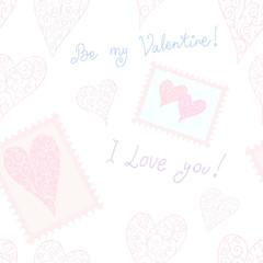 """Be my Valentine!"" seamless background"