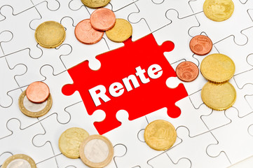 Rente puzzle hartgeld