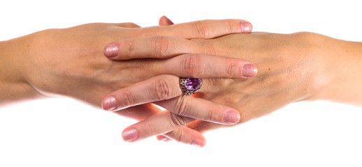 hands with silver ring