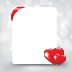 Silver Card With Hearts