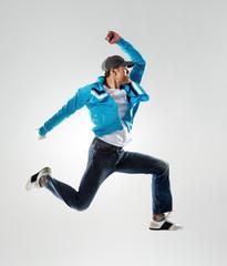 jumping hip hop dancer