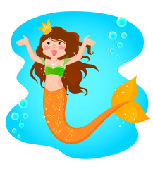 Photo sur Aluminium Mermaid mermaid princess