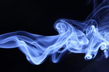 Garden Poster Smoke smoke on black