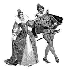 Fototapeten Karneval Dancers Renaissance 16tth