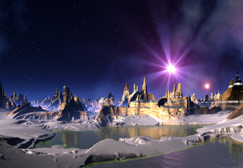 Alien Planet and Stars
