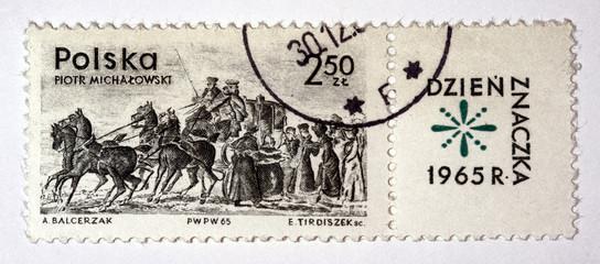 Znaczek z obrazem Piotra Michałowskiego, Dzień Znaczka 1965