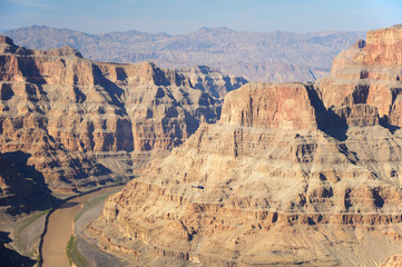 helicopter in the Grand Canyon