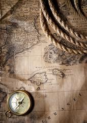 Fototapete - vintage map