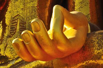 Gold buddha hand