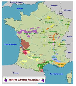 Cartes dev vins de France