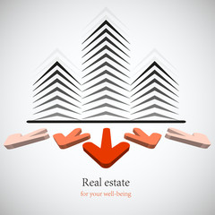 Concept real estate for your business. Vector background