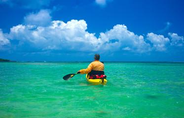 kayak tour in tropical sea