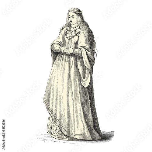 """X 23 Costume """"Femme du Moyen-A..."""