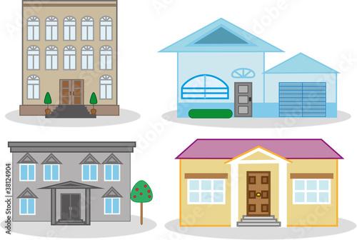 рисунки домов картинки