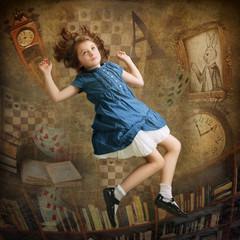 Wall Mural - Alice falling down