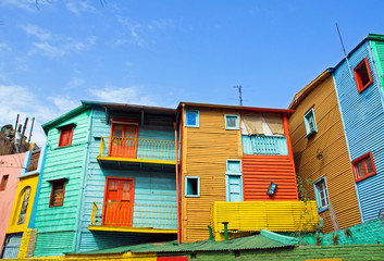 Poster Buenos Aires The colourful buildings of La Boca