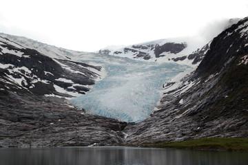 The black ice of Svartisen Glacier