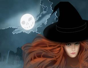 Illustration on Halloween