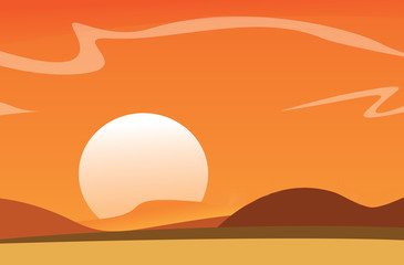 Vector Desert Background