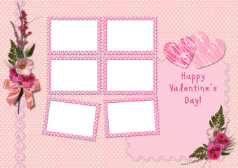 Happy Valentine's Day - Retro Photo Album