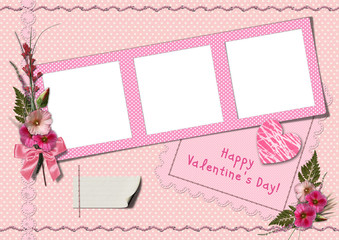 Retro photo album - Happy Valentine's Day