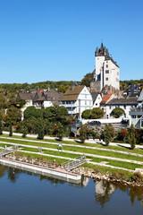 Blick auf Diez an der Lahn, Deutschland