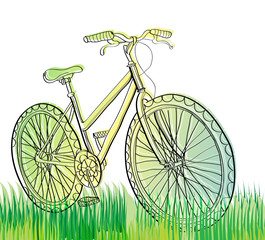 bicycle at field