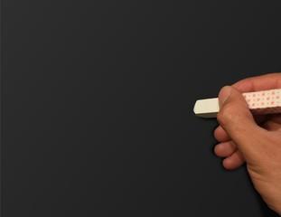 Kreidetafel mit Hand