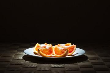 Organic Blood Orange slices