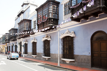 Old architecture of Lima, Peru.