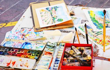 Piano di lavoro di un artista di strada