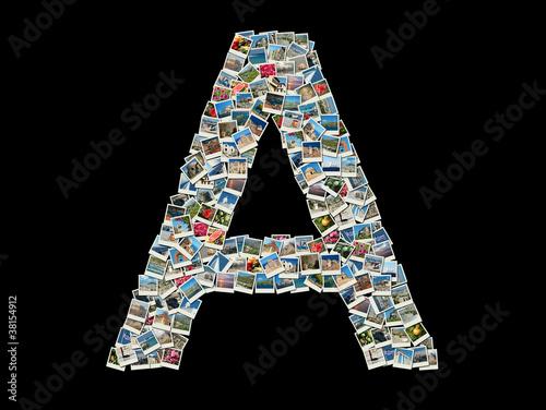 Как сделать буквы на фото