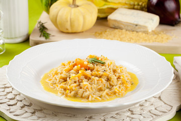 Risotto with pumpkin and cheese