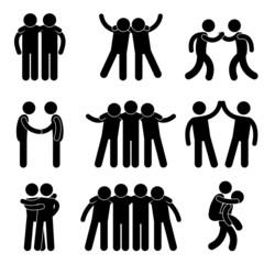 Friend Friendship Relationship Teammate Teamwork Icon Pictogram