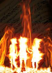 fiamme fuoco musica ragazze donne