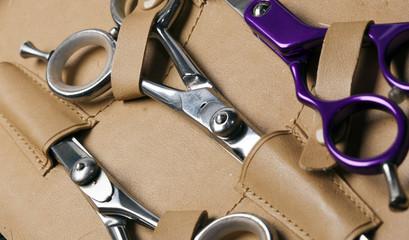 Scissors of professional hair stylist