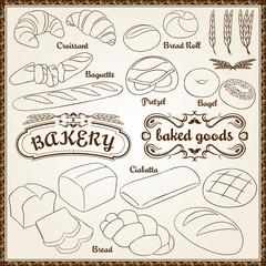 Vector Bakery Set