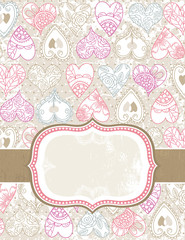 valentine background with color hearts
