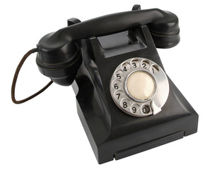 Old Vintage Telephone - Isolated
