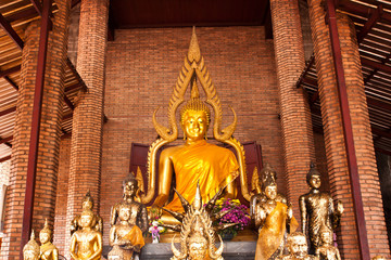 buddha in brick church