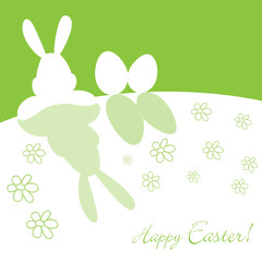 Frohe Ostern Ei green
