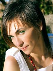 portrait of looking beautiful girl