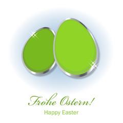 Frohe Ostern hellgrün