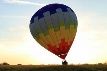 Poster Ballon Hot Air Balloon landing