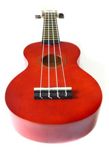 perspective of ukulele isolated