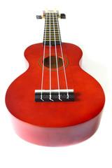 perspective of ukulele isolated